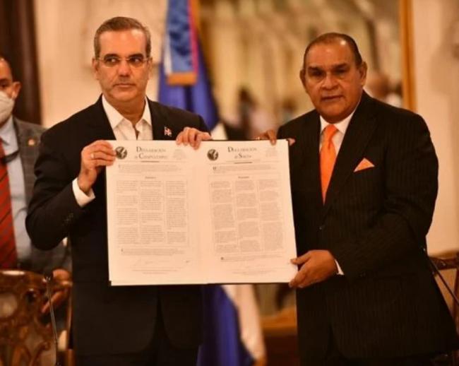 Luis Abinader - Miguel Franjul - Sociedad Interamericana de Prensa