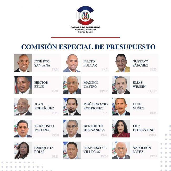 comisión especial bicameral del proyecto de Presupuesto General del Estado para el año 2021