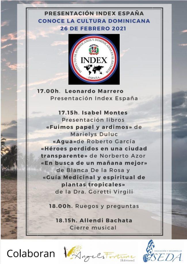 """El INDEX dará evento virtual """"Conoce la Cultura Dominicana"""""""